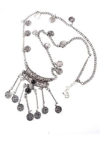 Vintage Style Pendant Long Chain Necklace