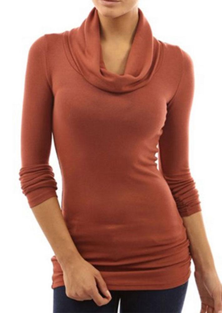 Turtleneck long sleeve t shirt bellelily for Long sleeve black turtleneck shirt