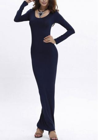 Long Maxi Bodycon Dress Without Necklace