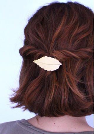 Vintage Leaf Barrette Hair Clip