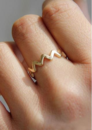 Punk Style Serrated Ring