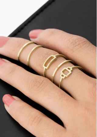 5Pcs Hollow Ring Set