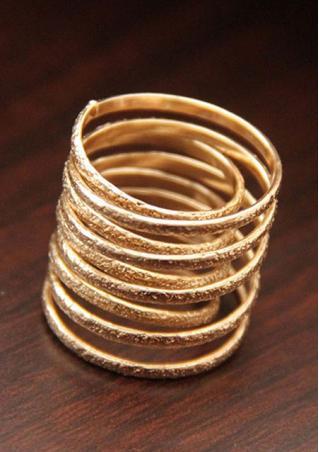 Irregular Matte Spring Style Ring