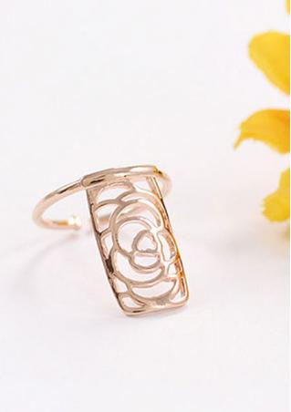 Hollow Flower Fingernail Ring