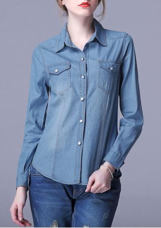 Long Sleeve Casual Demin Shirt
