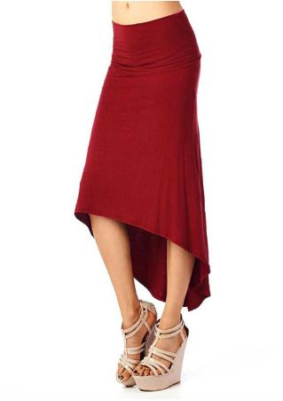 Irregular Long Skirt