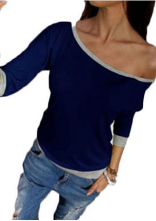 Three Quarter Sleeve Off Shoulder Casual Blouse