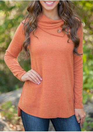Solid Color Long Sleeve Casual Pullover