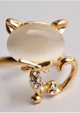 Cute OPal Open Ring