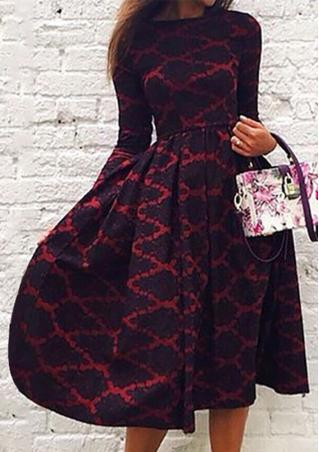 A-Line Long Floral Dress Without Bag