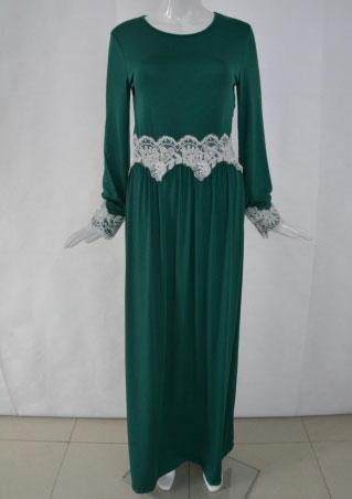 Long Sleeve Lace Long Dress