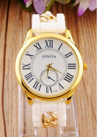 Silicone Chain Roman Numerals Wrist Watch