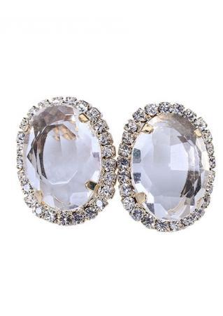 Simple Vintage Gemstones Ear Studs