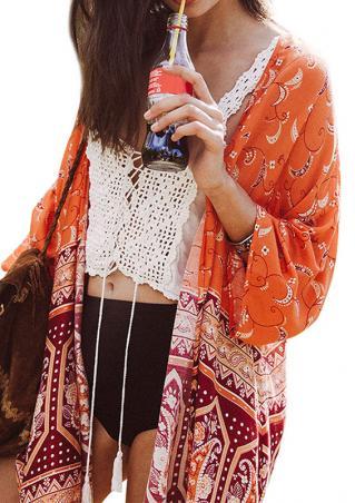 Paisley Printed Chiffon Kimono