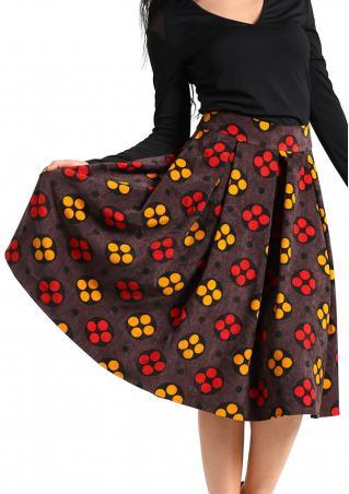 Printed Vintage A-Line Skirt