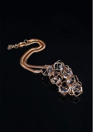Hollow Crystal Clavicle Necklace