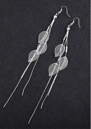 Exquisite Leaf Long Tassels Earrings