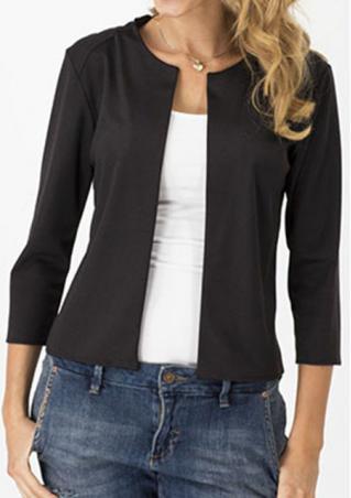 Solid Slim Long Sleeve Casual Jacket