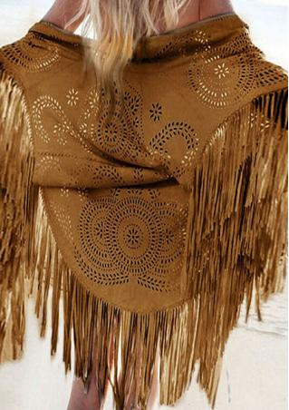 Solid Tassel Hollow Fashion Pashmina
