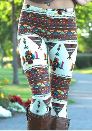 Owl Printed Stretchy Casual Leggings