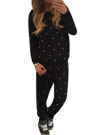 Beaded Long Sleeve Sportwear Outfits