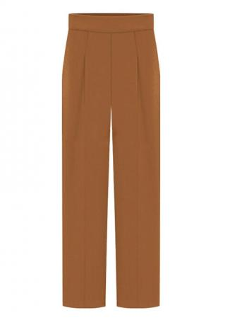 Solid Ruffled Loose Wide Leg Pants
