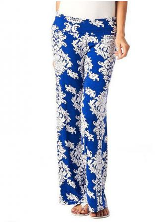 Printed Loose Casual Wide Leg Pants