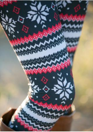 Christmas One Size Printed Stretchy Leggings