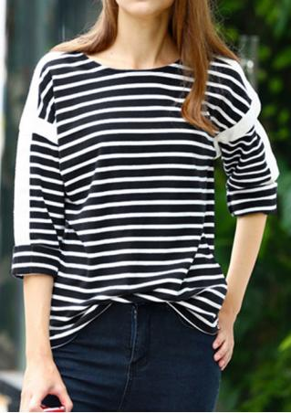 Striped Casual Long Sleeve Sweatshirt