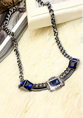 Fashion Gemstone Chain Necklace