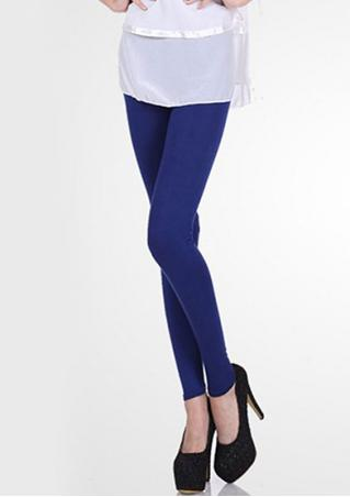 Solid Candy Color Stretchy Skinny Leggings