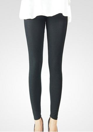 Solid Candy Color Stretchy Long Leggings