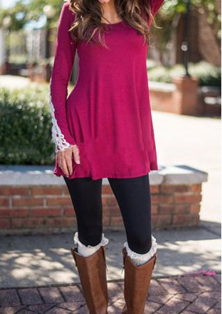 Lace Splicing Casual Mini Dress
