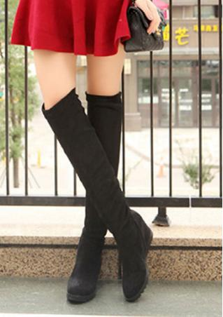 Tassel Height Increasing Over Knee Boots
