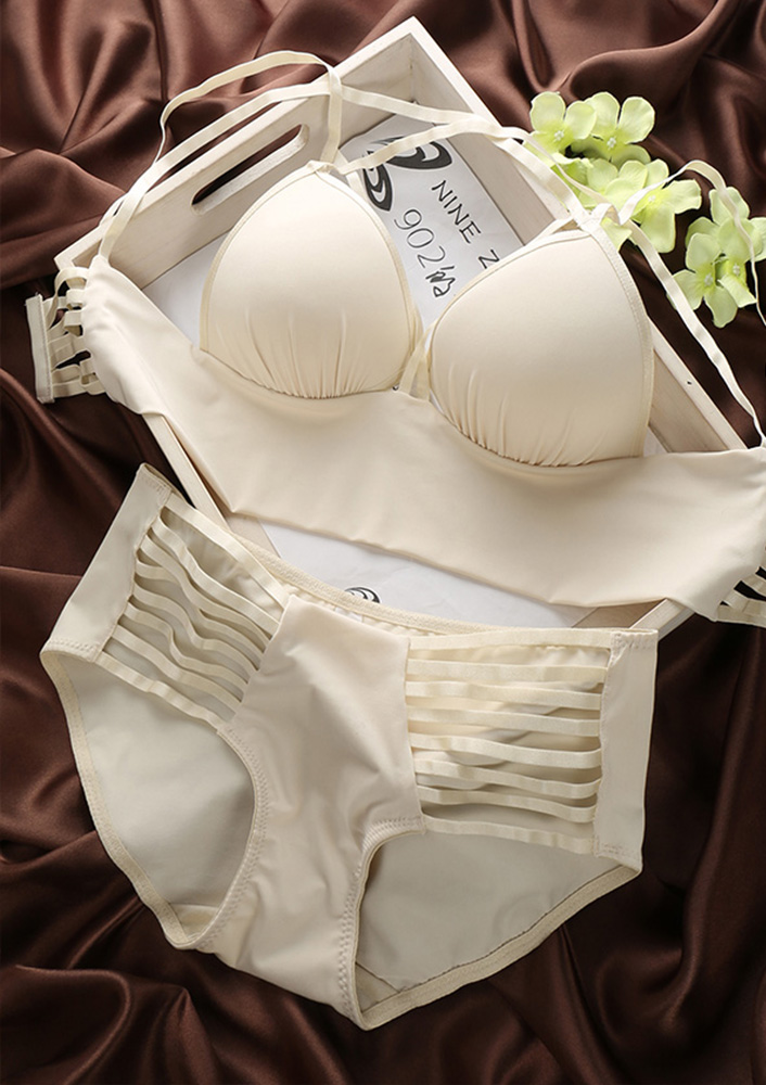 Solid Brief Bra Sets