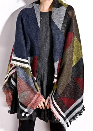 Tassle Plaid Fashion Pashmina