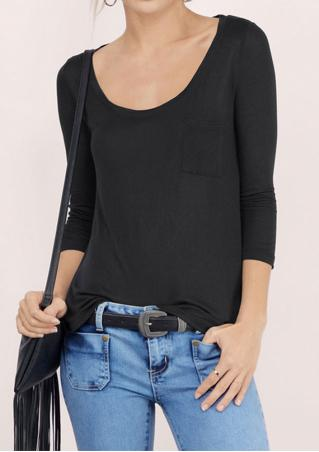 Solid O-Neck Loose Casual T-Shirt
