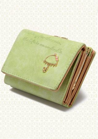 Umbrella Letter PU Leather Wallet