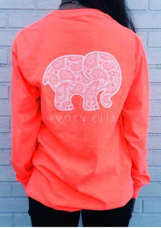 Cute Elephant Printed Fashion Sweatshirt