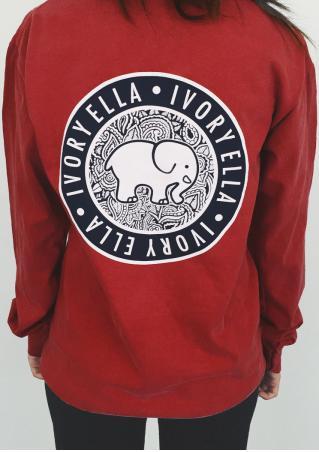 Elephant Long Sleeve Fashion Sweatshirt