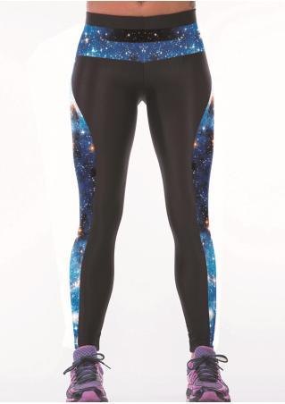 Printed Starry Sky Constellation Yoga Pants