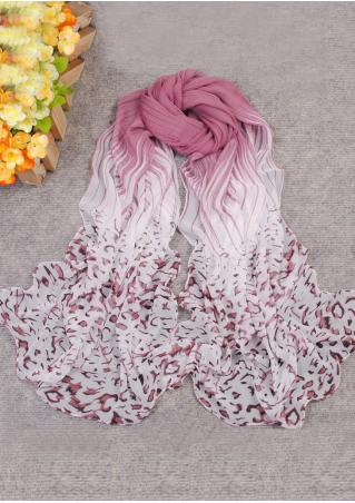 Gradient Color Printed Soft Scarf