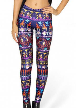 Printed Skinny Fashion Pencil Pants