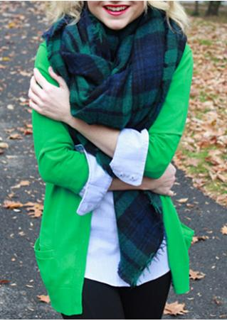 Plaid Faux Cashmere Soft Warm Fashion Scarf
