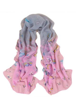 Floral Butterfly Chiffon Fashion Scarf