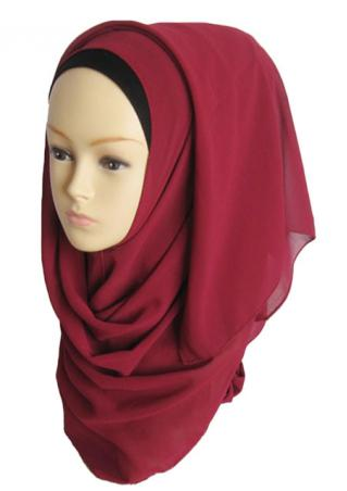 Solid Soft Muslim Headscarf Hijab
