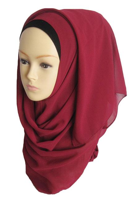 Solid Soft Muslim Headscarf Hijab