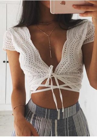 Solid Cross Strappy Sexy Crop Top