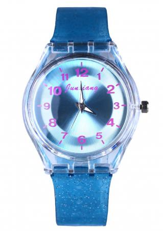 Number Plastic Quartz Wrist Watch