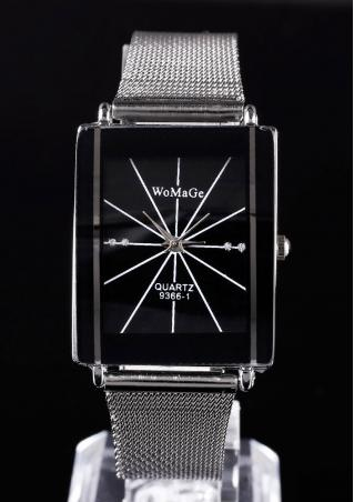 Square Analog Alloy Fashion Wrist Watch